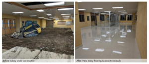 Mountain View School Before and After