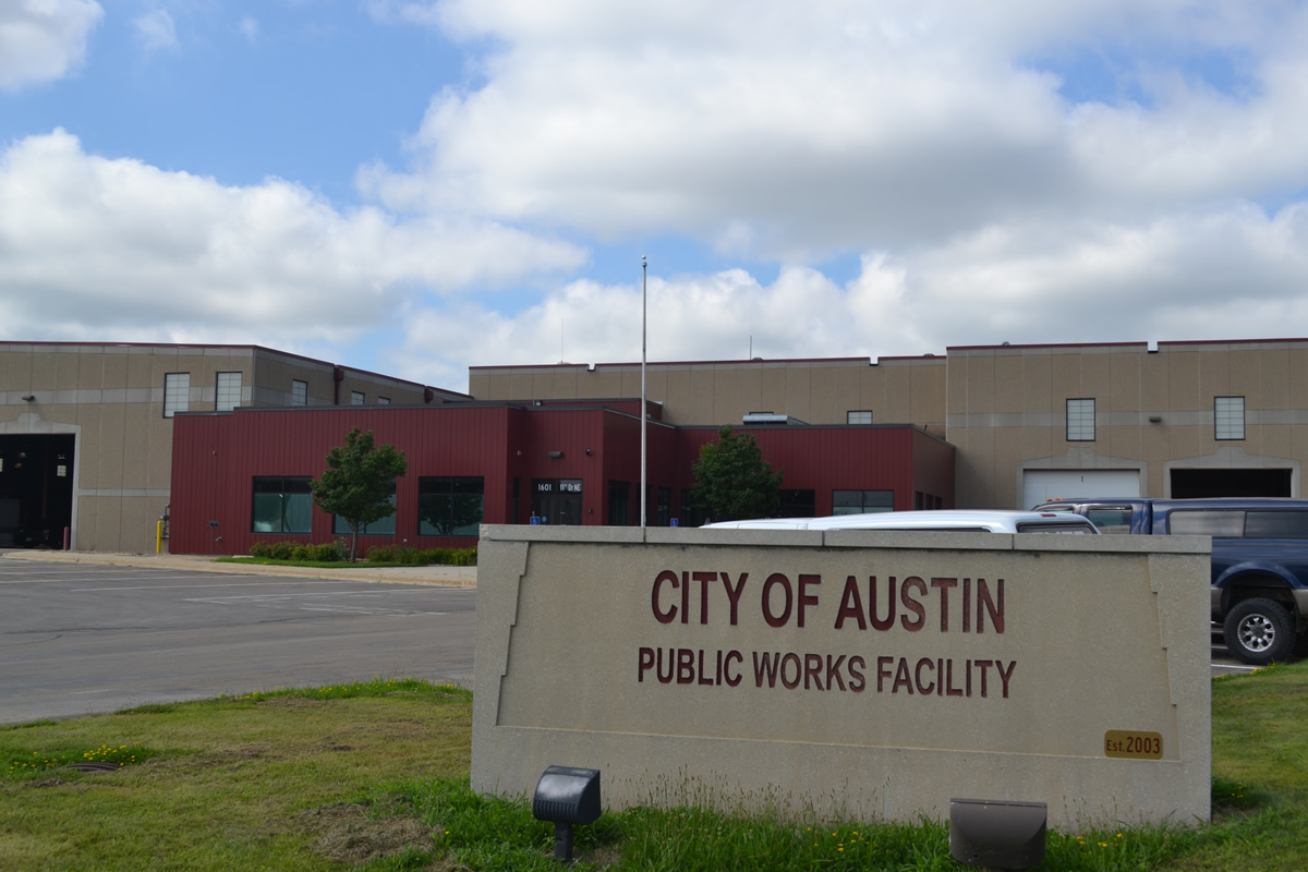 City of Austin Public Works Facility signage and exterior