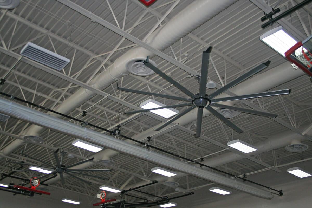 Austin Ellis roof of gymnasium with large fan