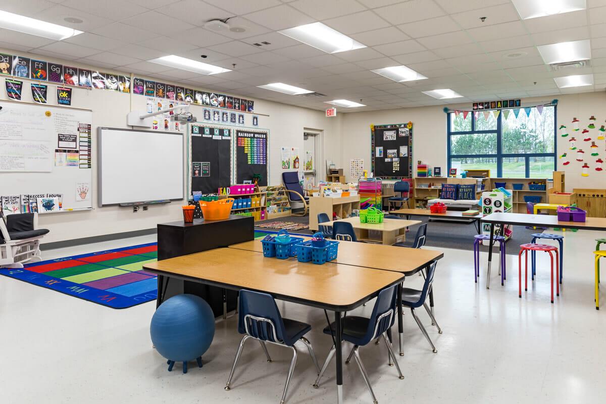 Mora Public School classroom