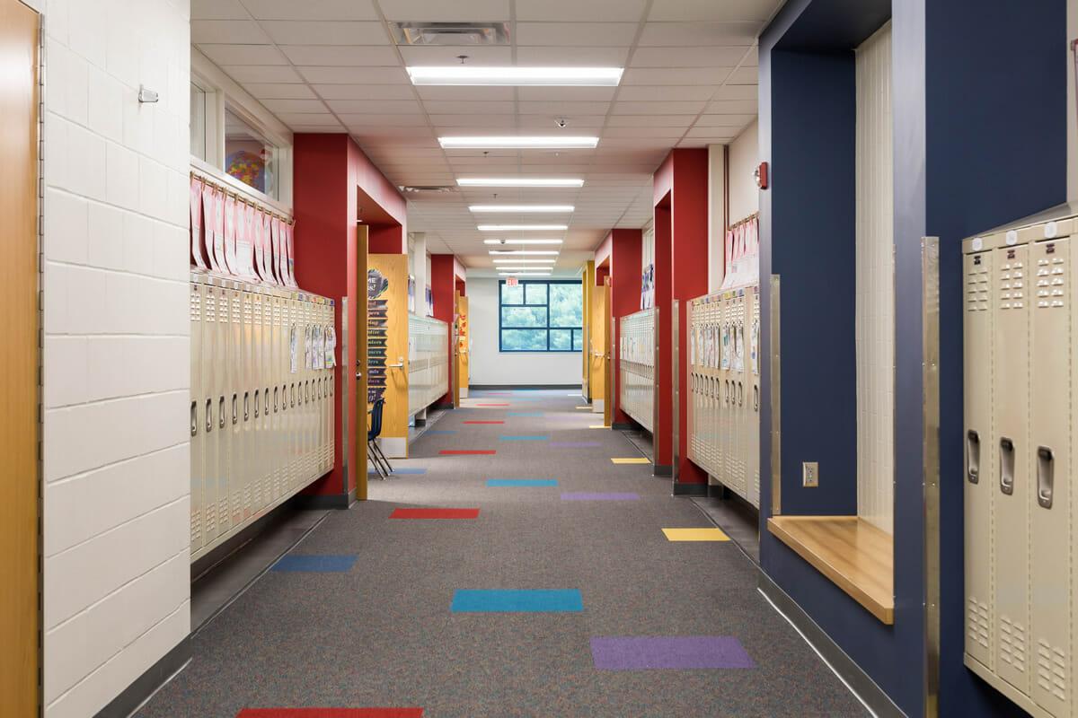 Mora Public School hallway