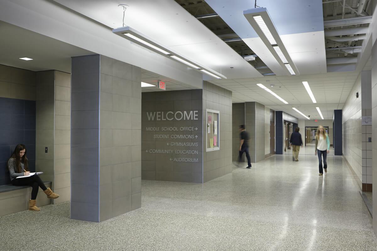 Pequot Lakes Public School hallway