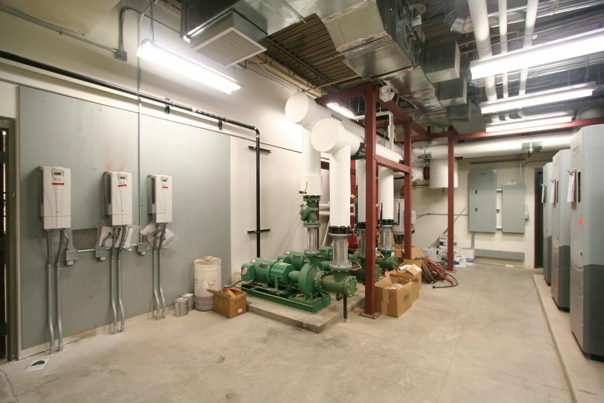 Pequot Lakes Public School utility room