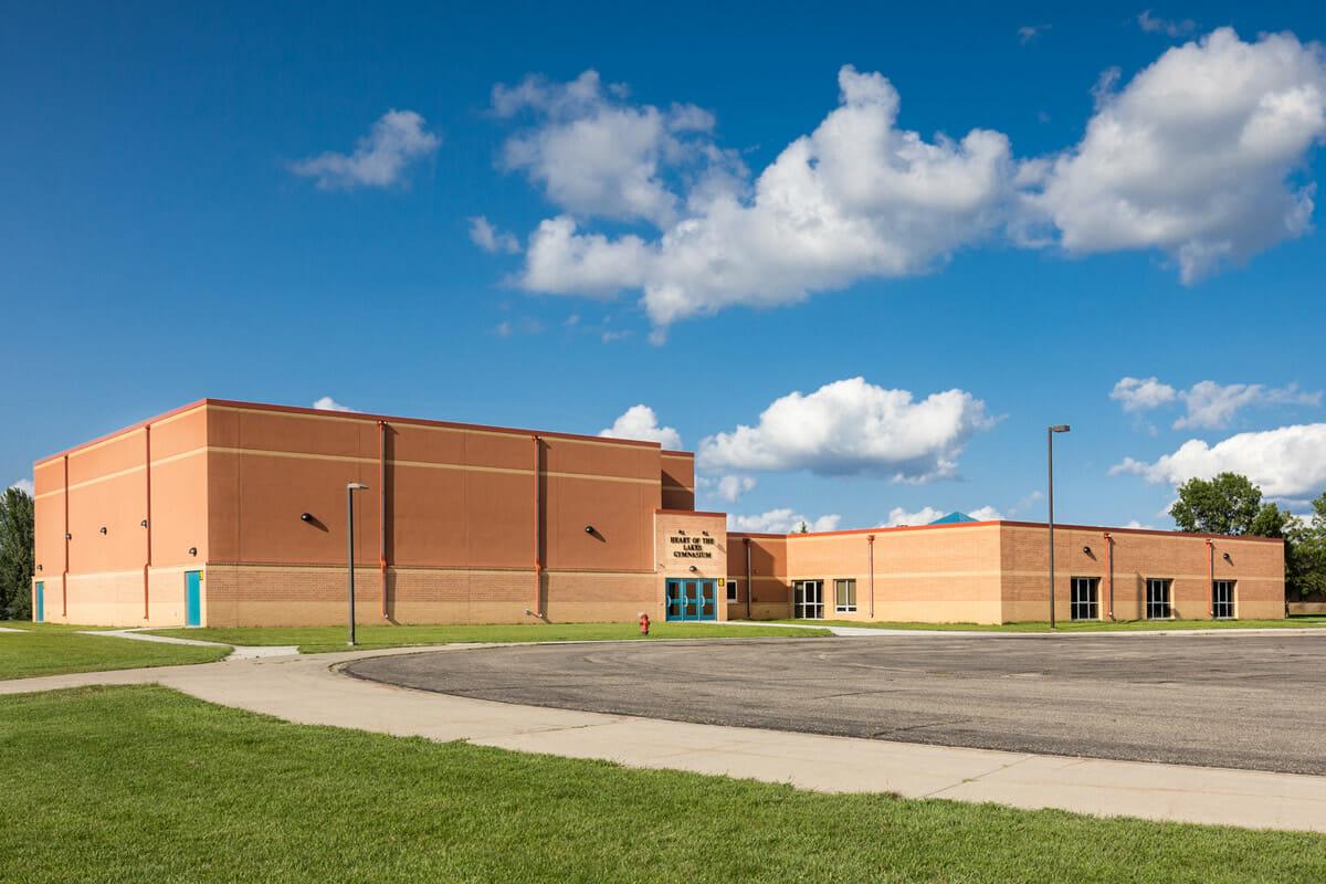 Perham Dent Public School exterior