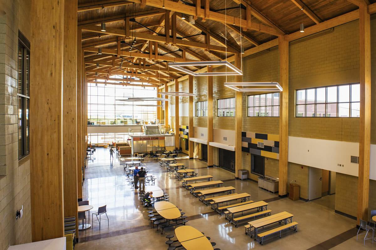 Perham Dent Public School cafeteria