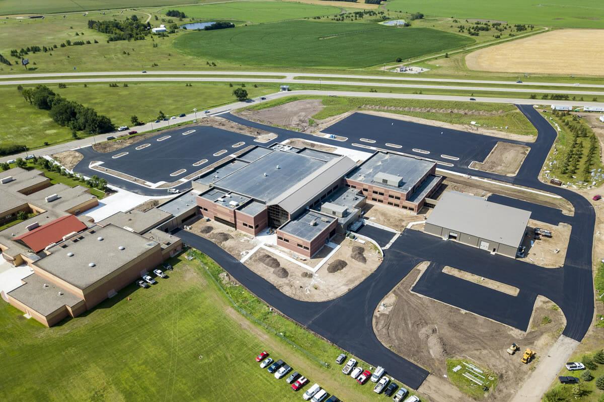 Perham Dent Public School drone shot