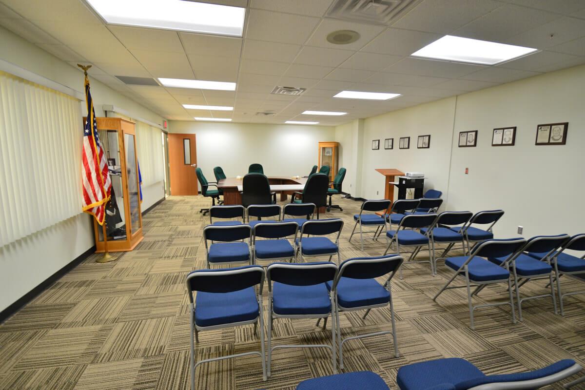Rushford Peterson School meeting room