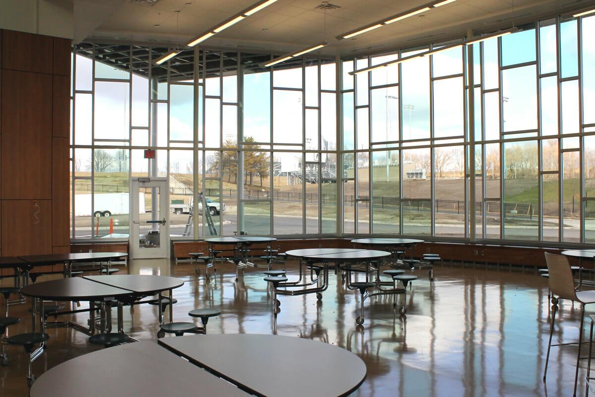 Rushford Peterson School cafeteria