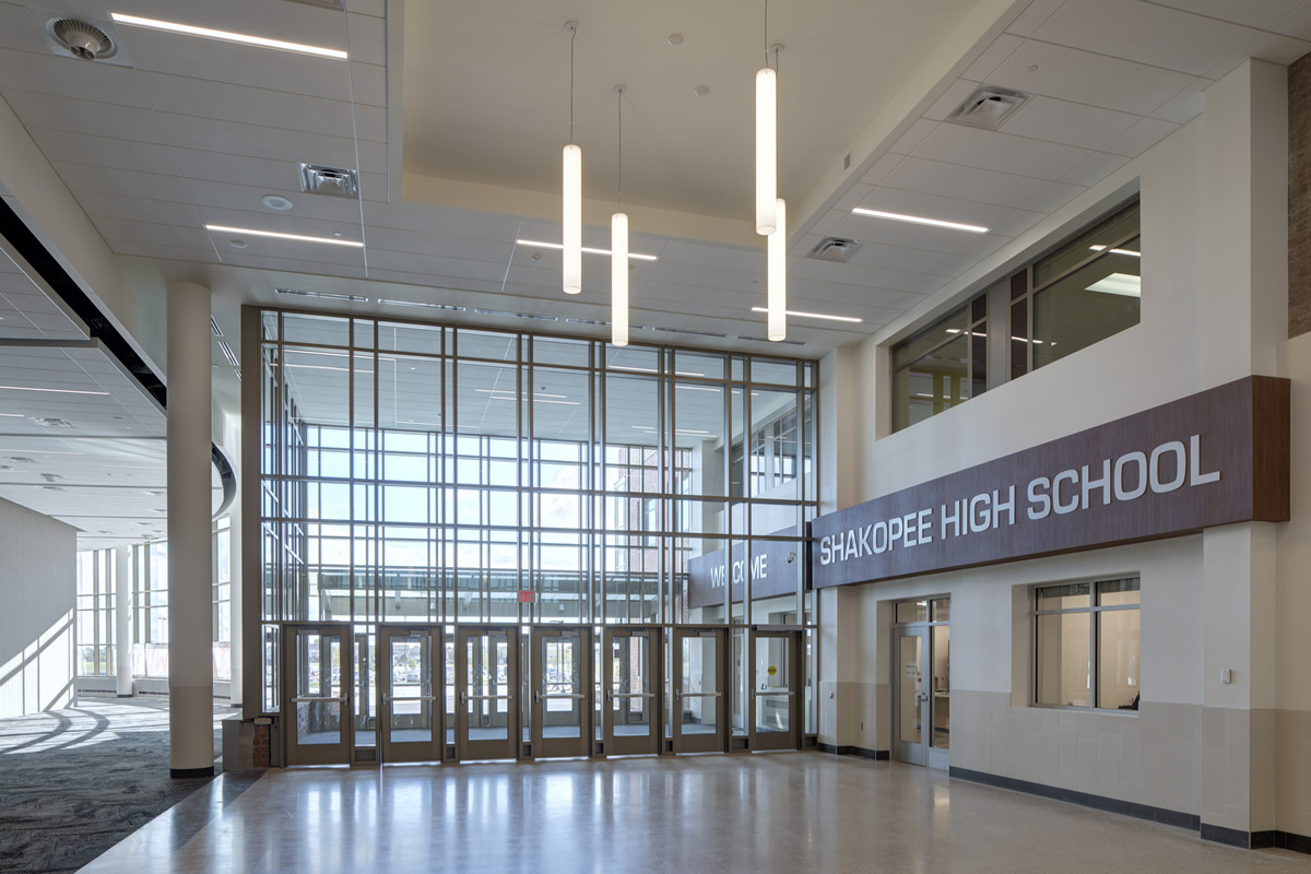 Shakopee High School entrance