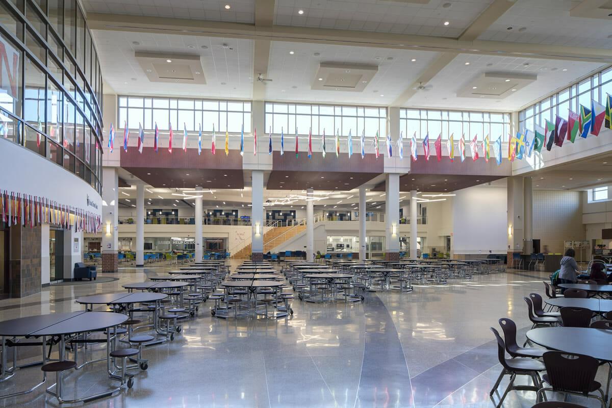 Shakopee High School cafeteria