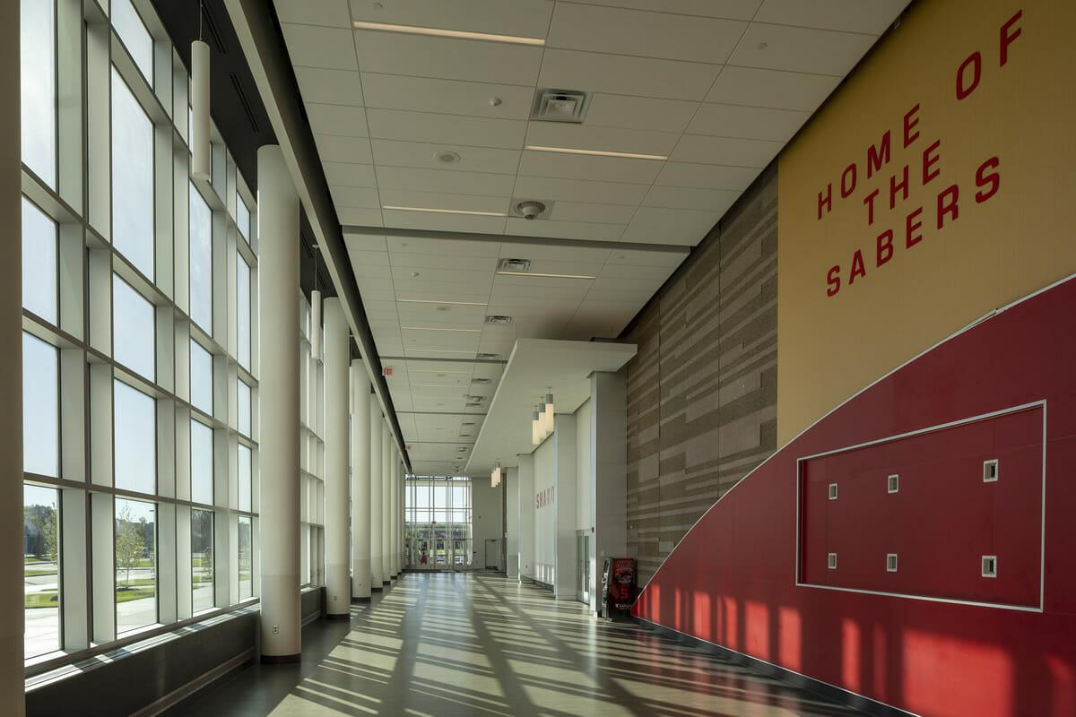 Shakopee High School hallway