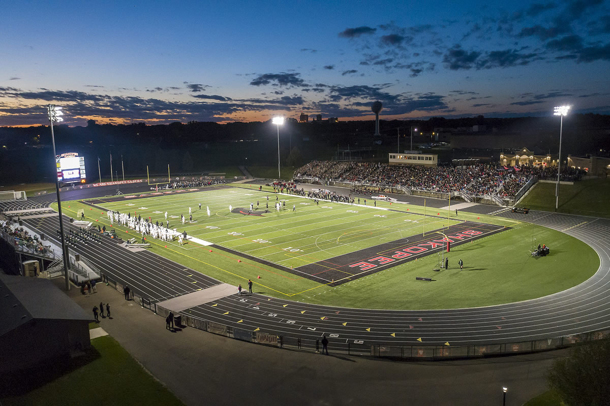 Shakopee High School football field and track