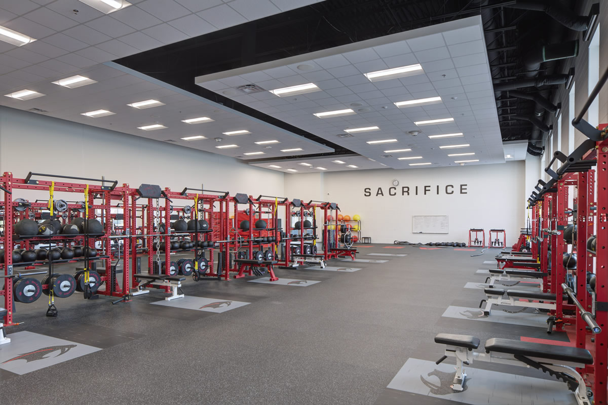 Shakopee High School weight room
