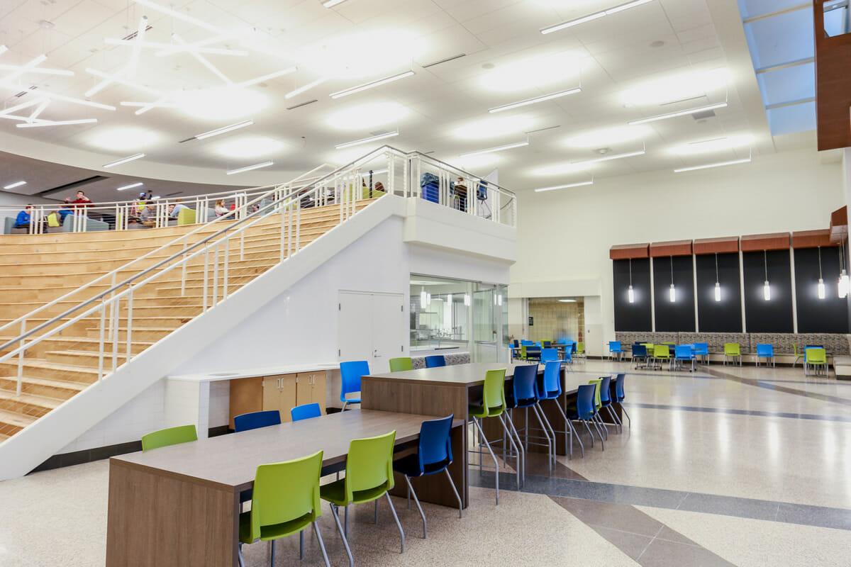 Shakopee High school lounge